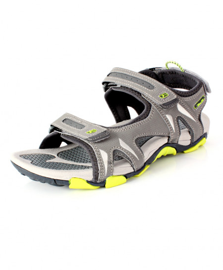 Grey Tri Strap Casual Sandal RS-714