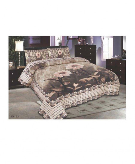 Brownish Floral Style Bedsheet BA-1135