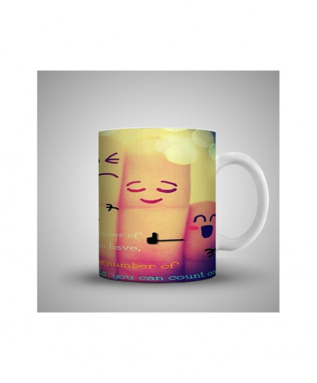 2X The Number Of Friends Printed Mug WH-058