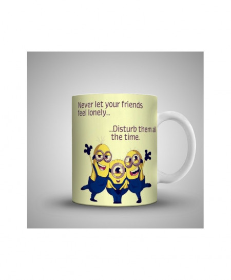 2X Never Let Your Friends Printed Mug WH-059