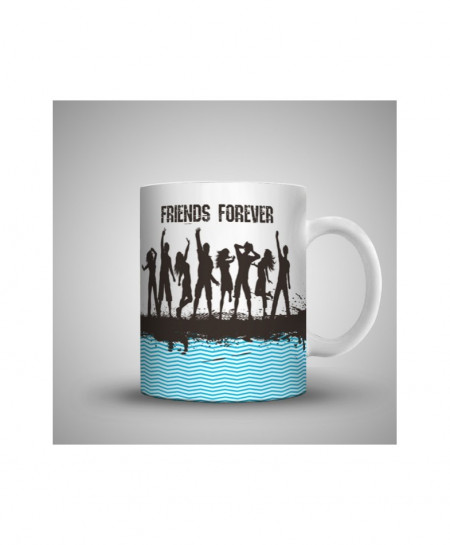 2X Happy Friends Forever Printed Mug WH-0512