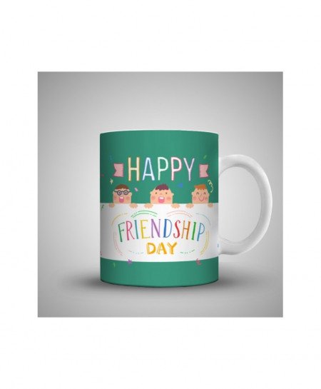 2X Happy Colorful Friendship Day Printed Mug WH-0513