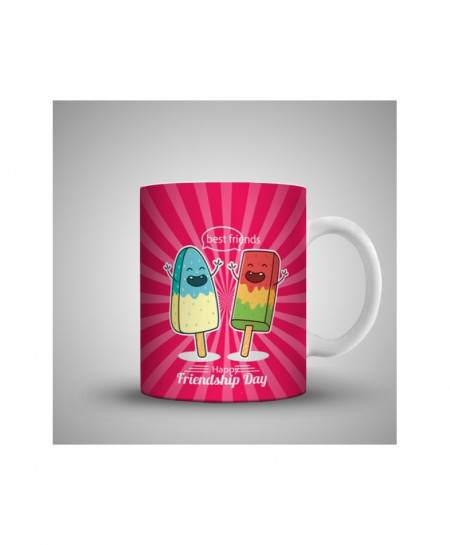 2X Best Frinds Happy Friendship Day Printed Mug WH-0520