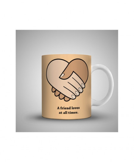 2X A Friend Loves At All Times Printed Mug WH-0524