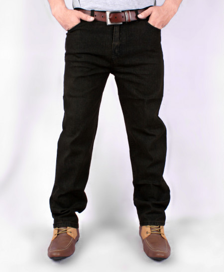 Coal Black Straight Style Jeans