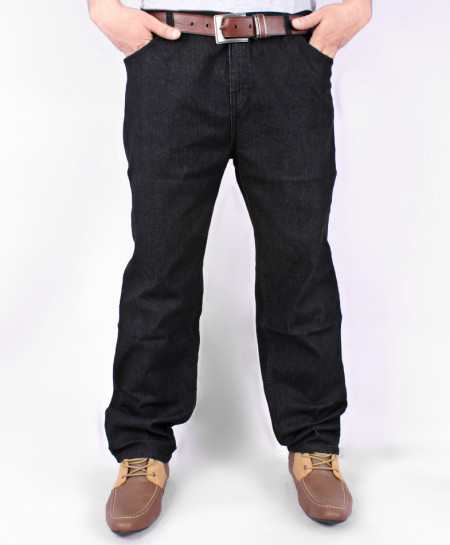 Jet Black Straight Style Jeans