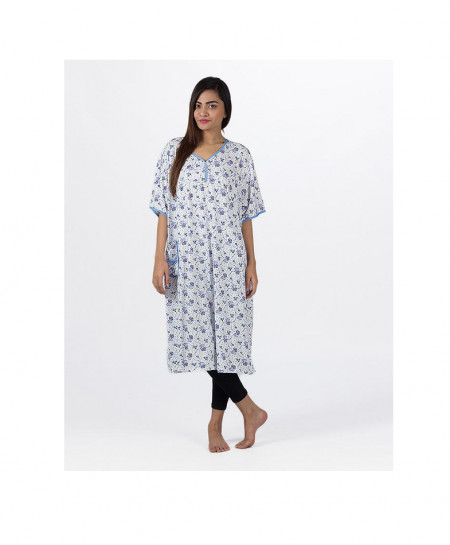 Espico International Blue Cotton Nightsuit