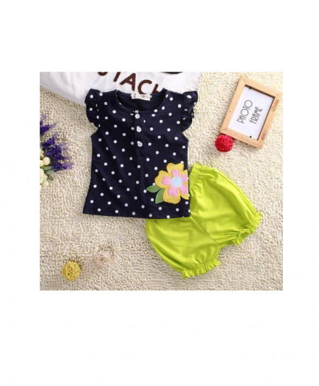 Black And Parrot baby 2 Piece Stylish Suit AM-226