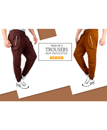 Pack Of 2 Deep Crotch Style Trousers FS-4536