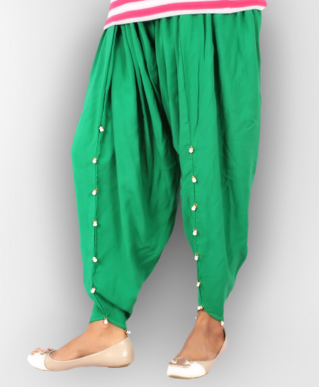 Green Stylish Ladies Tulip Pants GT-8621