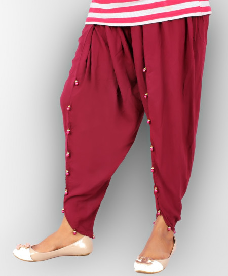 Maroon Stylish Ladies Tulip Pants GT-8622