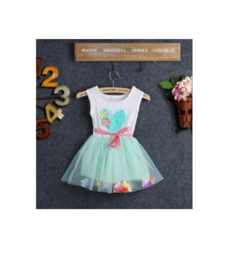 Baby Heart And Floral Stylish Frock AM-233