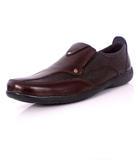 Brown Dual Tone Stylish Causal Slip On Shoes IS-008
