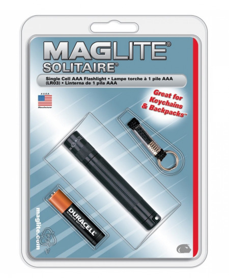MAGLITE Black Solitaire 1-Cell AAA Incandescent