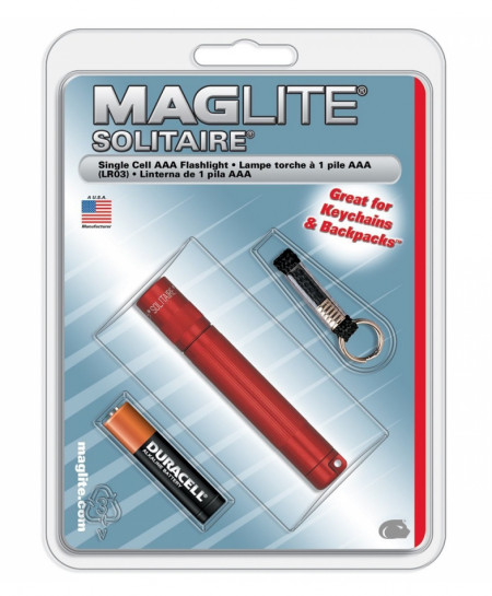 MAGLITE Red Solitaire 1-Cell AAA Incandescent