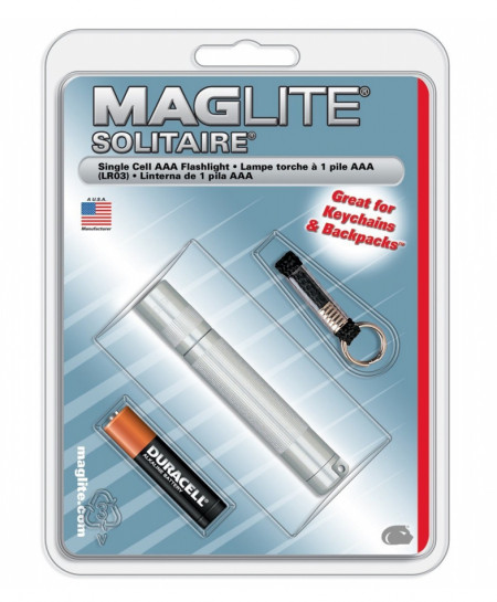 MAGLITE Silver Solitaire 1-Cell AAA Incandescent
