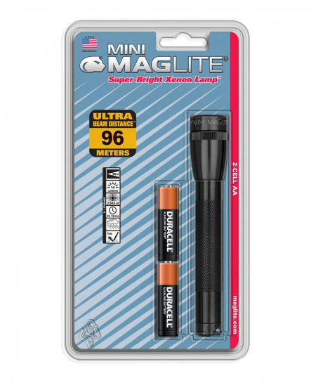 MAGLITE Black 2-Cell AA Incandescent