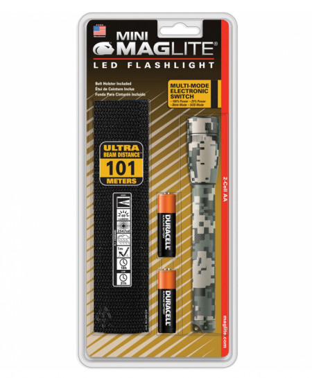 MAGLITE Camouflage 2-Cell AA Holster LED