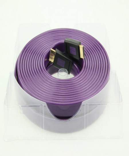 HDMI Purple Flat Cable ULT Unite 1.4v ult unit 1.4V 10m 2k.4k