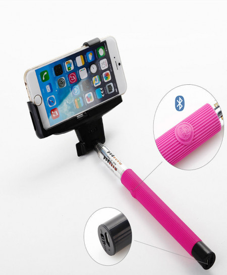 Z07-5 with builtin bluetooth button Color Pink