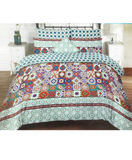 Multicolor Floral Design Cotton Bedsheet SY-258