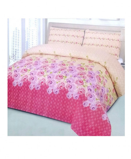 Creamy Pink Flowers 8 Pcs Quilt Cover Set SYQ-264