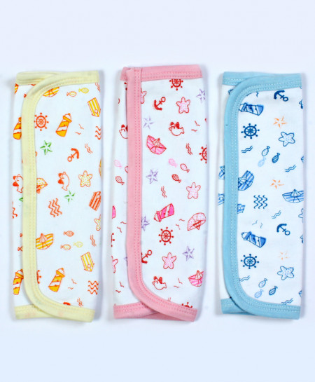 Pack Of 3 Printed Newborn Baby Towel