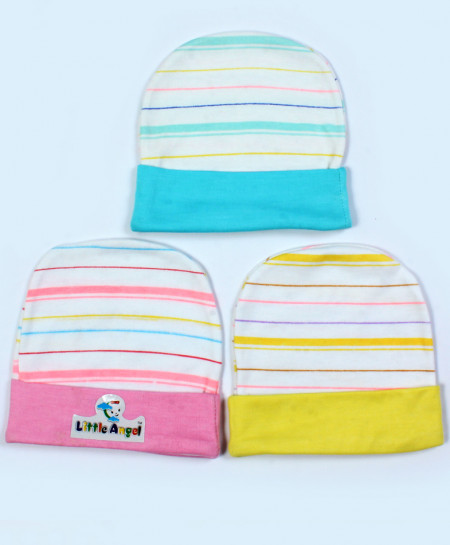 Buy Pack Of 3 Printed Stylish Newborn Baby Caps online in Pakistan ... 1c94144a0c7