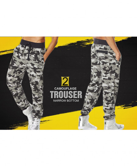Pack Of 2 Camouflage Narrow Bottom Style Trouser FS-538