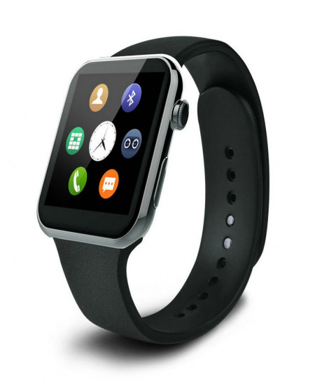 Android Bluetooth iOS Gsm Smart Watch W08 Black CZ-10
