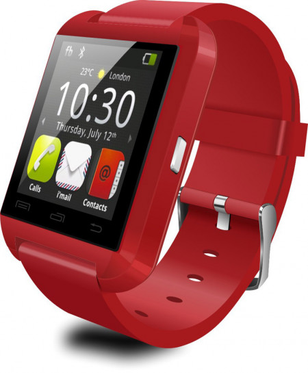 U8 Bluetooth Touchscreen Smart Watch All IOS Android Phone Red