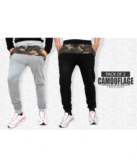 Pack Of 2 Camouflage Patch Design Trousers CT-6531