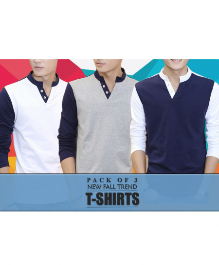 Pack Of 3 New Fall Trend Full Sleeves T-Shirts FD-3235