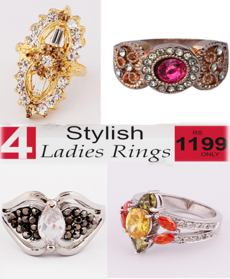 Stylish Ladies Rings Bundle-8