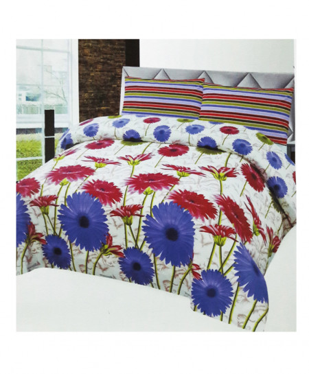 Multicolor Big Flower Style Cotton Bedsheet SY-280