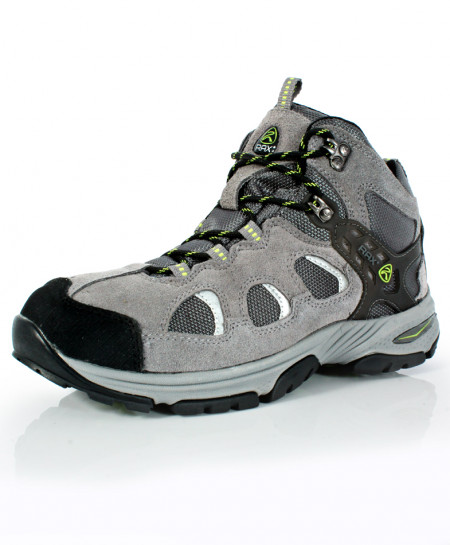 Grey Black Stitched Design Sports Shoes DR-310