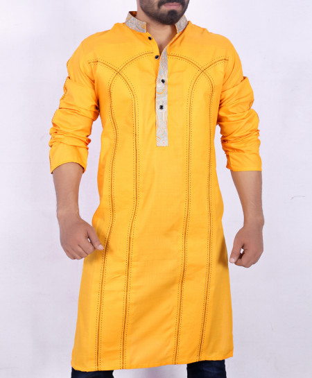 Yellow Embroidered Stylish Kurta ARK-902