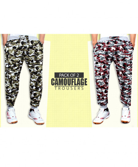 Pack Of 2 Camouflage Trousers AG-8