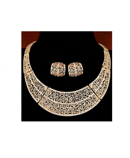Gold Plated Heavy Bridal Jewellery Set AM-241