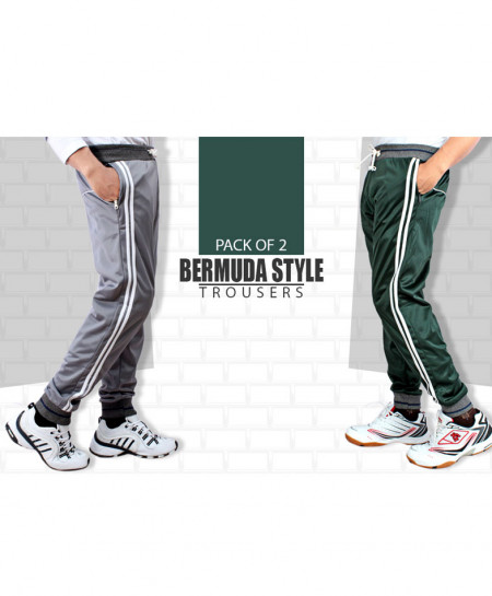 Pack Of 2 Grey And Green Trenda Trouser AG-9