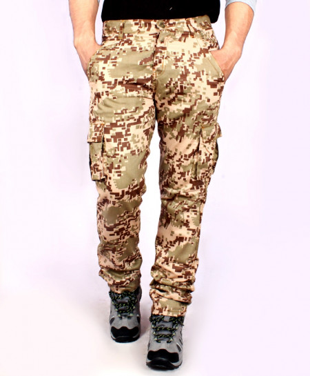 Tan Camouflage 6 Pocket Cargo Pants QZS-078