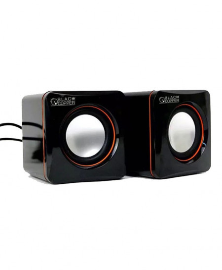 Black Copper Multimedia USB Speaker Crystal A1