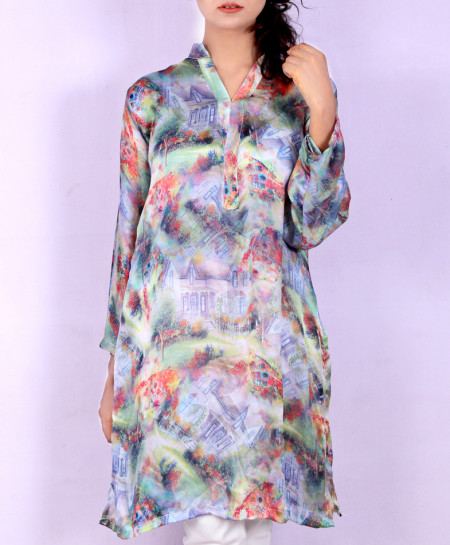 Varicolored Digital Printed Style Ladies Kurti VRJ-1759