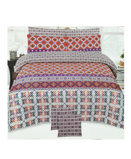 Multi Color Floral Style Cotton Bedsheet SY-326