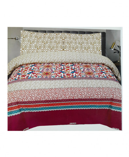 Multi Color Floral Style Cotton Bedsheet SY-330