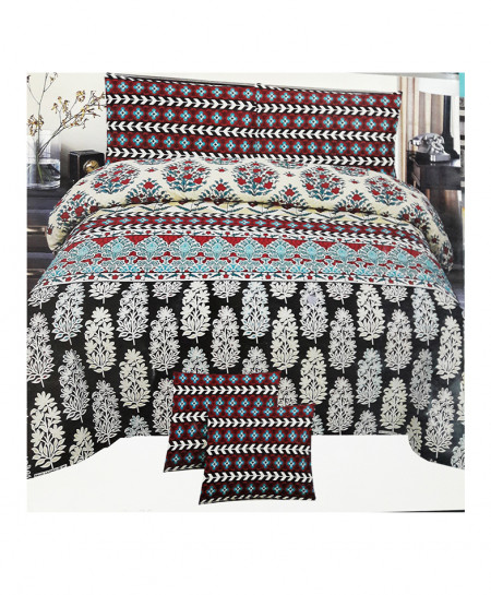 Multi Color Floral Style Cotton Bedsheet SY-337