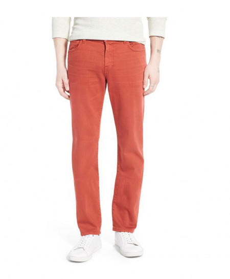 Red Stylish Regular Fit Jeans FW-03