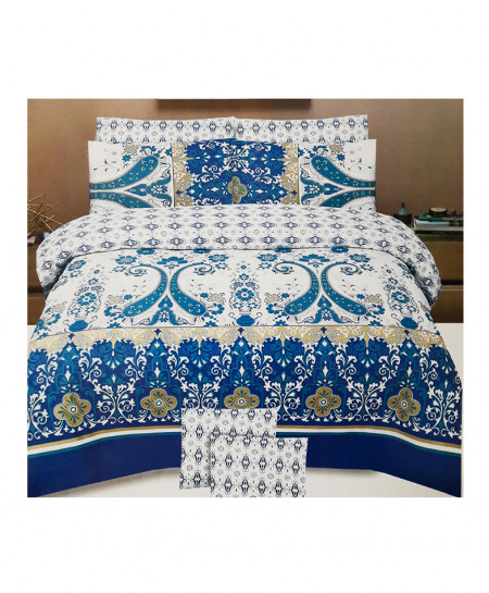 Multicolor Floral Style Cotton Bedsheet SY-357