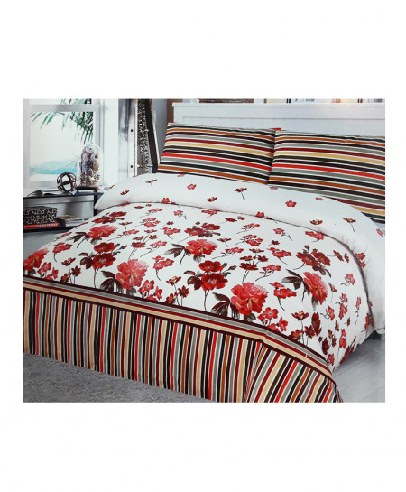 Multi Color With White Floral Cotton Bedsheet SY-361