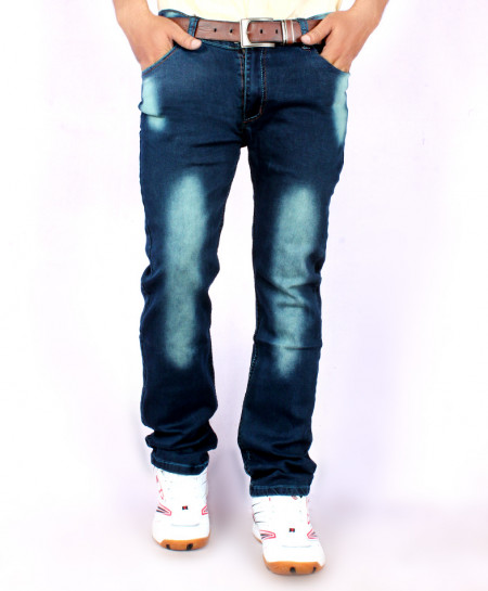 Dark Blue Shaded Stylish Jeans